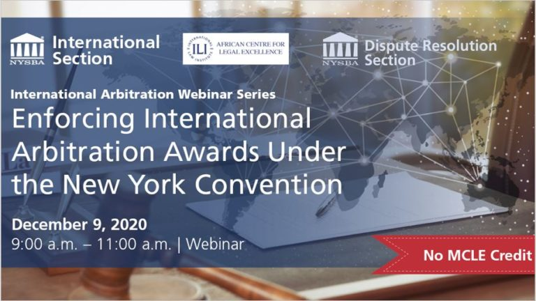 Enforcing International Arbitration Awards under the New York Convention