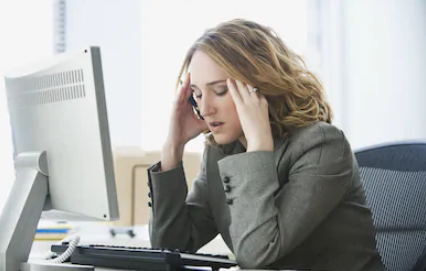 stressed woman shutterstock