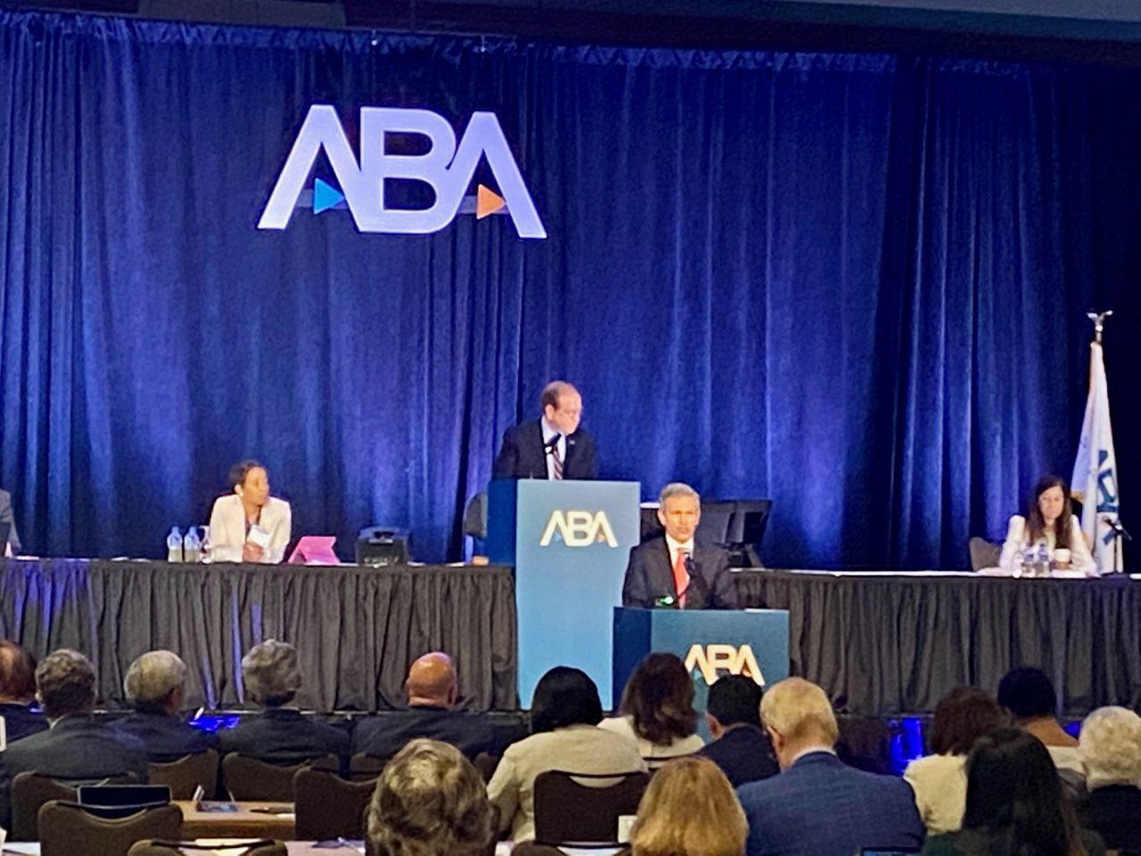Hank Presenting at ABA