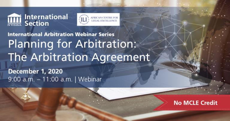 International Arbitration Dec 1