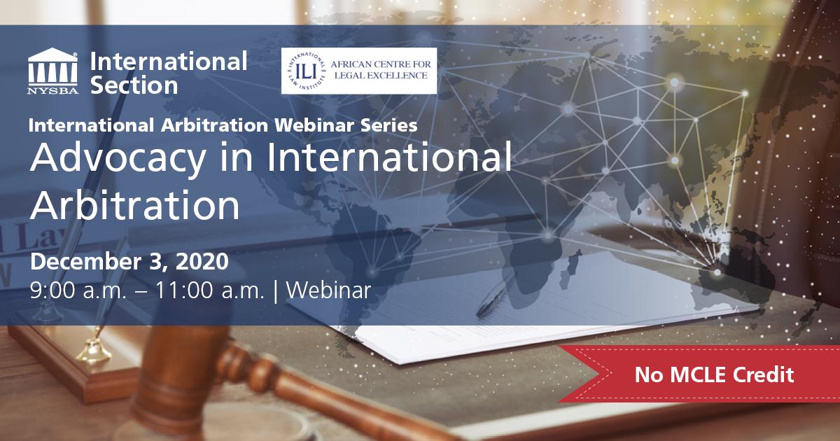 International Arbitration Dec 3