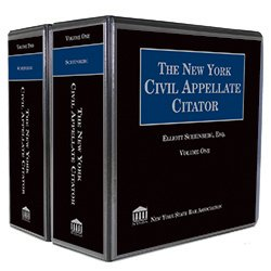 The New York Civil Appellate Citator (2 Vols.)