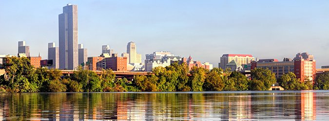 Albany Skyline along the banks of the Hudson River