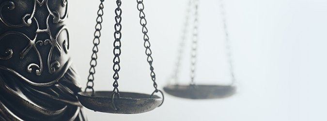 Legal law concept image, Scales of Justice and books