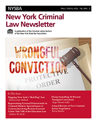 NYCriminalLawNewsletterFall2020Cover