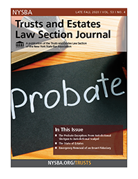 Trusts and Estates Late Fall 2020_Cover image
