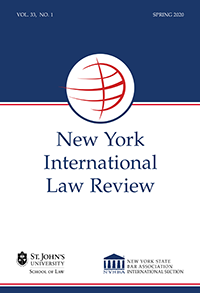 New York International Law ReviewSpring 2020 Vol. 33 No. 1_COVER_PNG(1)