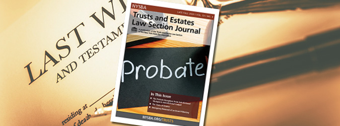 NYSBA Trusts and Estates Law Section Journal