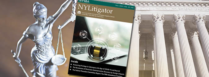 NYSBA NY Litigator publication