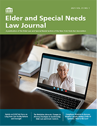 Elder Law Journal 2021 Vol 31 No 1 – COVER png
