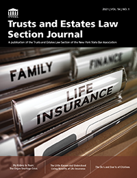 Trusts and Estates Journal 2021 vol 54 no 1 Cover_200